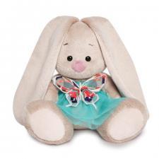 Зайка Ми в бирюзовой юбочке с бабочкой (Малыш), мягкая игрушка BudiBasa. Размер - 15 см