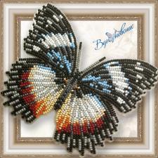 """Набор для вышивки бисером на прозрачной основе """"Бабочка """"Гиполимнас декситея"""""""""""