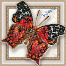 """Набор для вышивки бисером на прозрачной основе """"Бабочка """"Hypanartia Kefersteini"""""""""""
