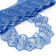 Кружево капроновое,45 мм,цвет синий (040)