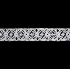 Кружево-трикотаж,30 мм,цв.белый