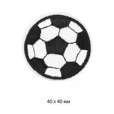 """Термоаппликация """"Футбольный мяч"""",4х4 см,цв.чёрный/белый"""
