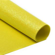 Глиттерный фоамиран (жёлтый),20х30 см,толщина 2 мм