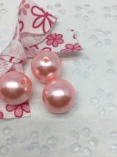 Бусины под жемчуг,20 мм,20 гр (5 бусин),цвет светло-розовый (099)