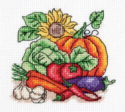 """Набор для вышивания Кларт """"Осенний урожай"""". Размер - 12,5 х 12 см."""
