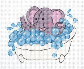 """Набор для вышивания Кларт """"Слонёнок"""". Размер - 13 х 11 см."""