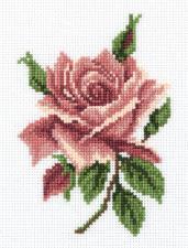 "Набор для вышивания Кларт ""Чайная роза"". Размер - 11,5 х 15 см."
