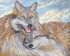 Волчья пара. Размер - 39 х 31 см.