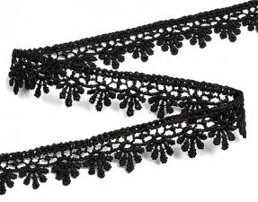 Кружево гипюр,16 мм,цв.чёрный