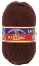 Пряжа Аргентинская шерсть. Цвет 121 (коричневый)