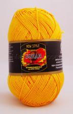 Пряжа Бонди. Цвет 104 (жёлтый)