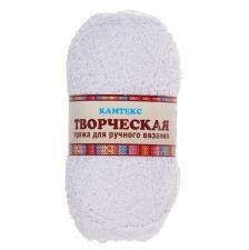 """Пряжа """"Творческая"""" 100% хлопок 270 м/100 г (002 отбелка)"""