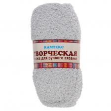 """Пряжа """"Творческая"""" 100% хлопок 270 м/100 г (008 серебристый)"""