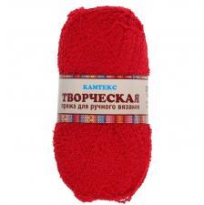 """Пряжа """"Творческая"""" 100% хлопок 270 м/100 г (046 красный)"""