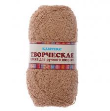 """Пряжа """"Творческая"""" 100% хлопок 270 м/100 г (077 тёмно-бежевый)"""