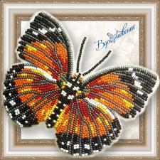 """Набор для вышивки бисером на прозрачной основе """"Бабочка """"Euphaedra Eleus"""""""""""