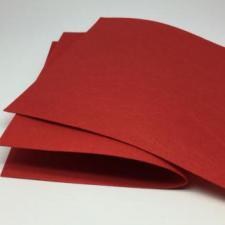 Фетр листовой жёсткий 2 мм,20х30 см,цвет красный (007)