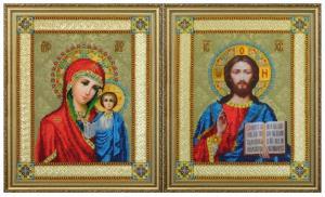Картины бисером | Венчальные иконы. Размер - 24 х 30 см (2 шт).