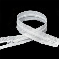 Молния Т3 неразъёмная, потайная,цвет F101 белый