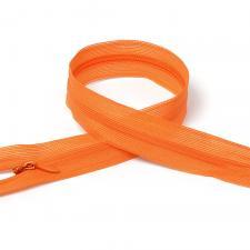 Молния Т3 неразъёмная, потайная,цвет F157 оранжевый