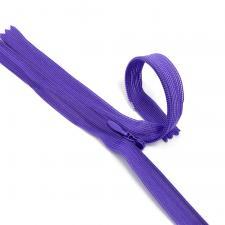 Молния Т3 неразъёмная, потайная,цвет F170 фиолетовый