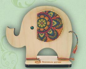 """Набор для вышивания по дереву """"Индийский слон"""". Размер - 16 х 18 см."""