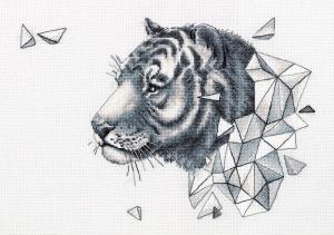 Геометрия.Тигр. Размер - 37,5 х 26,5 см.