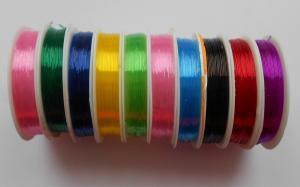 Нить-резинка силиконовая круглая,цвет ассорти,10 катушек,d=0,6 мм