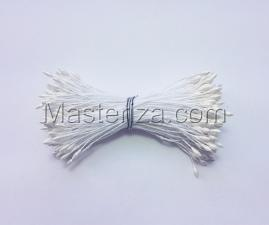 Тычинки тонкие,2 мм,200 шт,цв.белый