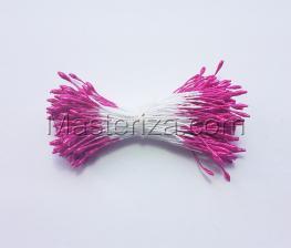 Тычинки тонкие,2 мм,100 шт,цв.розовый