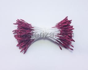 Тычинки тонкие,2 мм,100 шт,цв.бордовый