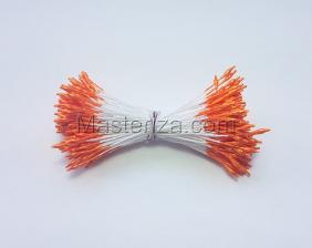 Тычинки тонкие,2 мм,200 шт,цв.оранжевый