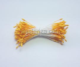 Тычинки тонкие,2 мм,200 шт,цв.жёлтый