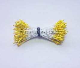 Тычинки тонкие,2 мм,100 шт,цв.лимонный