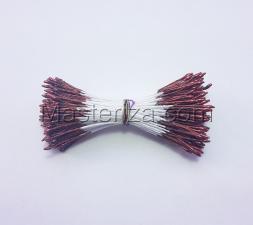Тычинки тонкие,2 мм,200 шт,цв.красно-коричневый