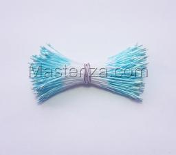 Тычинки тонкие,2 мм,200 шт,цв.голубой