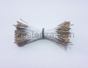 Тычинки тонкие,2 мм,100 шт,цв.золото