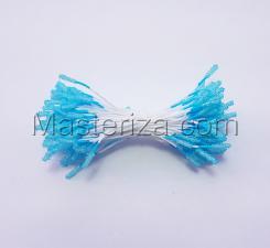 Тычинки сахарные,2 мм,100 шт,цв.голубой