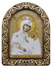 """Набор для вышивания бисером иконы в рамке-киоте """"Образ Прсв. Богородицы """"Утоли моя печали"""""""""""