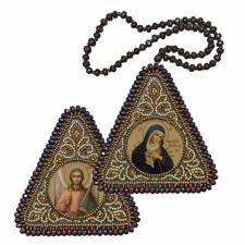 """Набор для вышивания бисером двухсторонней иконы """"Богородица """"Умягчение злых сердец"""" и Ангел Хранитель"""""""