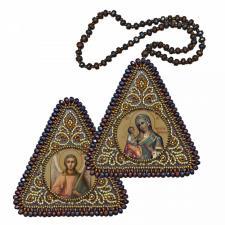 """Набор для вышивания бисером двухсторонней иконы """"Богородица Иерусалимская и Ангел Хранитель"""""""