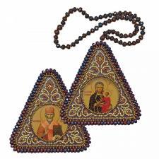 """Набор для вышивания бисером двухсторонней иконы """"Богородица Одигитрия и Св. Николай Чудотворец"""""""