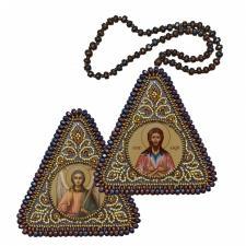 """Набор для вышивания бисером двухсторонней иконы """"Святой Прп. Алексий Человек Божий и Ангел Хранитель"""""""