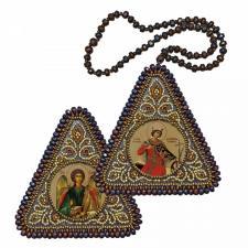 """Набор для вышивания бисером двухсторонней иконы """"Св. Вмц. Екатерина и Ангел Хранитель"""""""