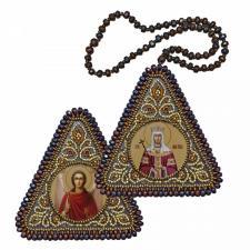 """Набор для вышивания бисером двухсторонней иконы """"Св. Равноап. Царица Елена и Ангел Хранитель"""""""