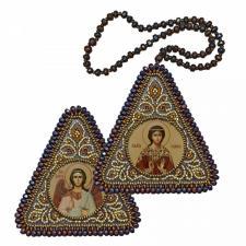 """Набор для вышивания бисером двухсторонней иконы """"Св. мц. Надежда и Ангел Хранитель"""""""