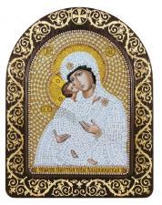 """Набор для вышивания бисером иконы в рамке-киоте """"Богородица Владимирская"""""""