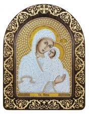 """Набор для вышивания бисером иконы в рамке-киоте """"Св. Анна с младенцем Марией"""""""
