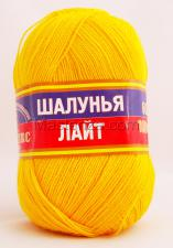 Пряжа Шалунья Лайт. Цвет 104 (жёлтый)