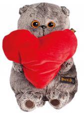 Басик и красное сердце. Размер - 19 см.